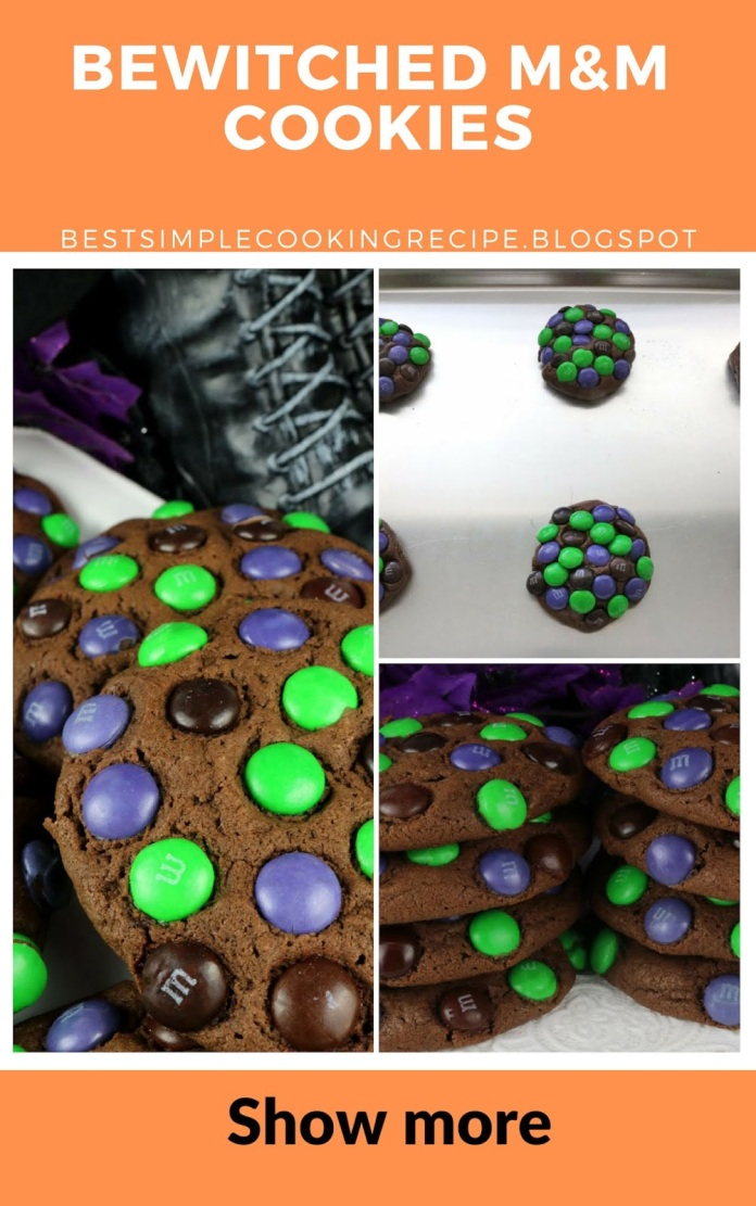 BEWITCHED, M&M, Cookies, M&M COOKIES,