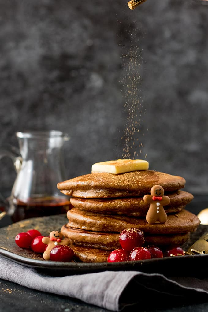 Christmas Gingerbread Pancakes