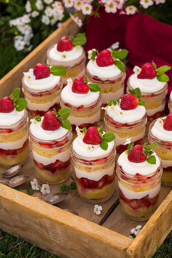 Strawberry Shortcake, Trifle, Dessert,