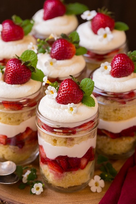 Strawberry Shortcake, Trifle, Dessert,